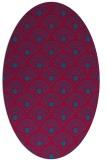rug #897205 | oval blue-green rug