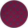 rug #897213   round blue-green rug