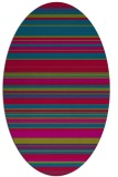 rug #900965 | oval stripes rug