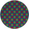 rug #901135   round check rug