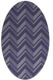 rug #903017 | oval blue-violet rug