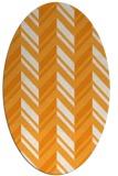 rug #903277 | oval light-orange rug
