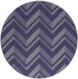rug #903737 | round blue-violet rug