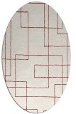 rug #904983 | oval stripes rug