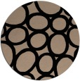rug #907257 | round black abstract rug