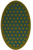 rug #910205 | oval blue-green rug