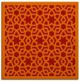 rug #911817 | square orange rug