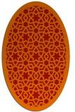rug #912177 | oval orange rug