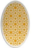 rug #912269 | oval light-orange rug
