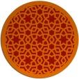 rug #912897 | round orange rug
