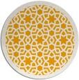 rug #912989 | round light-orange rug