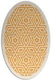 rug #917681 | oval light-orange rug