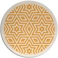 rug #918401 | round light-orange rug