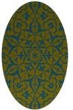 rug #921005 | oval blue-green rug