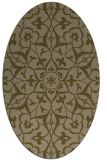rug #921041 | oval mid-brown rug