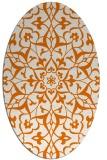 rug #921129 | oval orange rug