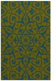 rug #921365 |  blue-green rug
