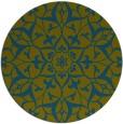 rug #921725   round blue-green rug