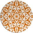 rug #921849 | round orange rug