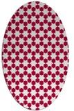 rug #922845 | oval red rug