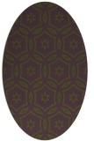 rug #926468 | oval damask rug