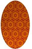 rug #926577 | oval orange rug