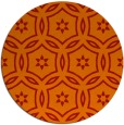 rug #927297 | round orange rug