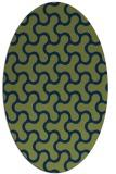 rug #928169 | oval green rug