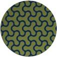 rug #928889 | round green rug