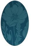 rug #929997 | oval blue-green rug