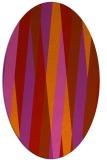 rug #935585 | oval red rug