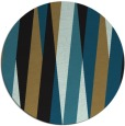 rug #936073 | round black abstract rug