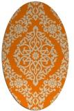 rug #944325 | oval orange rug