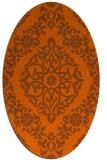 rug #944597 | oval red-orange rug