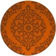 rug #945317 | round red-orange rug