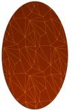 rug #946389 | oval red-orange rug