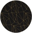 rug #946873 | round black abstract rug