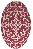 rug #949948   oval damask rug