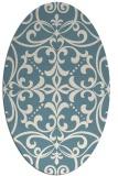 rug #950021 | oval blue-green rug