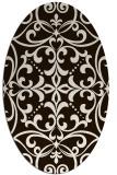 rug #950037   oval damask rug