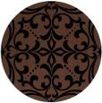 rug #950461 | round black rug