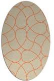 rug #953533 | oval orange rug