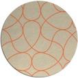 rug #954253   round beige rug