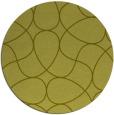 rug #954373 | round light-green rug
