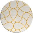 rug #954389   round light-orange rug