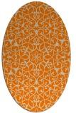rug #956925 | oval orange rug