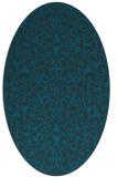 rug #956993   oval blue rug