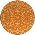 rug #957645 | round orange rug