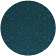 rug #957713 | round blue-green rug