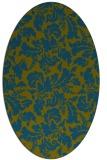 rug #958805 | oval green rug